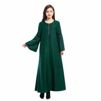 New Muslim Chiffon Ursa Jubah Middle East Nation Wind Muslim Dress Lace Long Sleeve Dress - intl Price Philippines