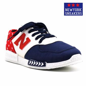 Harga New York Sneakers Lane Rubber Shoes(BLUE/WHITE/RED)