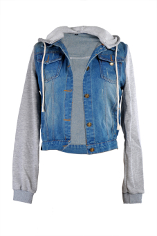 AZONE Distressed Light Wash Denim Jean Jackets (Blue) (Intl) Price Philippines