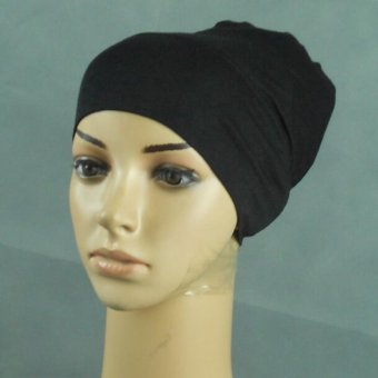 LALANG Islamic Bucket Hat Muslim Hijab Bonnet Caps (Black) - intl Price Philippines