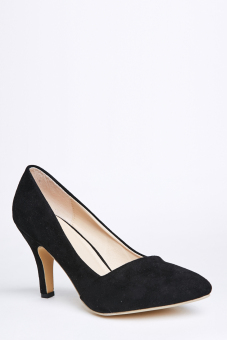 Harga Stitch Classic Pointed Toe Stiletto Heels, Suede finish (Black)(Export)
