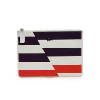 Lacoste Medium Gabriella Clutch (Flash Cyber Orange) Price Philippines