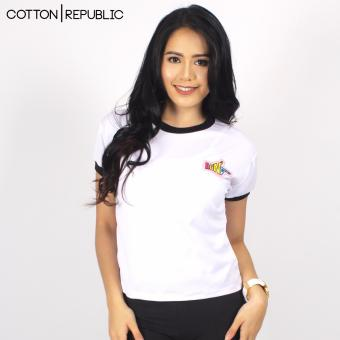 Cotton Republic POSH Crop/Sexy Top Patched Design - Bang (White) Price Philippines