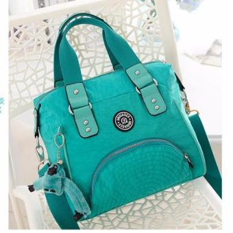 Harga Skadi JQE-2018 Women's 2 Way Korean Fashion Bag Nylon Waterproof Big Size Multi-pocket Travel Bag Crossbody Tote Bag Best Gift With Free Bag Charm(Light Green)