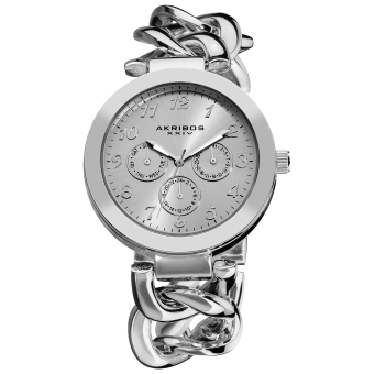 Harga Akribos XXIV Women's Silver Alloy Twist Strap Watch AK644SS