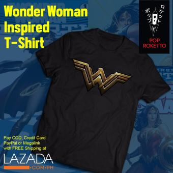 Pop Roketto Wonder Woman Inspired T-Shirt (Black) Price Philippines