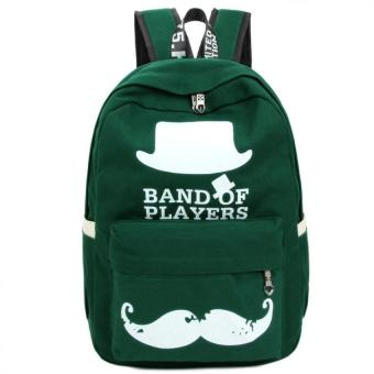 Pilot 5004 Canvas Weekender Bag Band of Players School Student Backpack Outdoor Casual Bag ( Green) Price Philippines