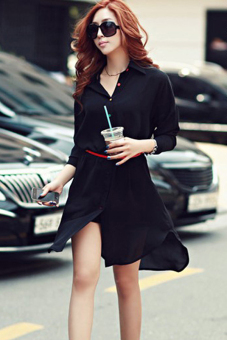 Cyber Elegant Women Casual Chiffon Mini Dress Summer (Black) Price Philippines
