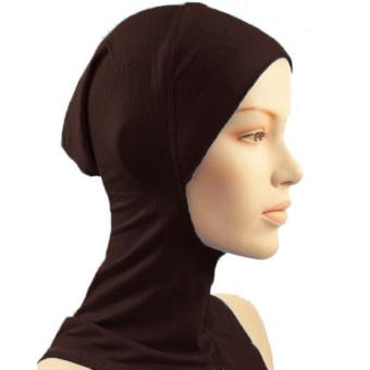 Under Scarf Hat Muslim woman Hijab Islamic Head Wear Neck Cover Coffee - intl Price Philippines