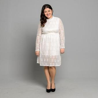 Harga Get Laud Plus PD Lexey Dress (White)
