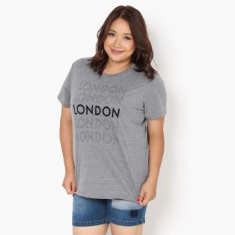 Harga SM Woman Plus London Statement Tee (Gray)