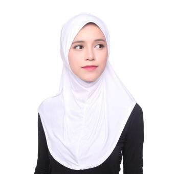 Muslim LIDS Hijab Instant Scarf Ice Silk Cloth Fashion Breathable Cold - White - intl Price Philippines