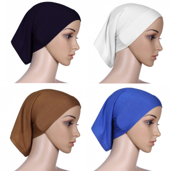 4 X Womens Muslim Mini Inner Hijab Scarf Caps Multicolor Price Philippines