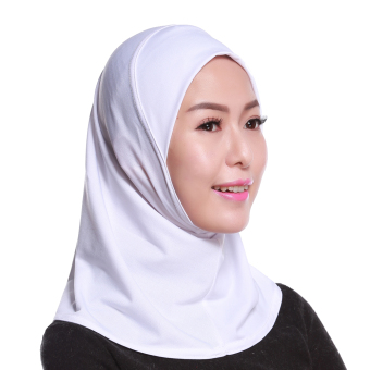Agapeon Muslim Mini Hijab Tudung Cotton&Linen White Price Philippines