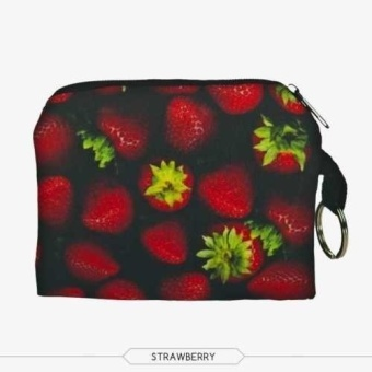 Fang Fang Coin Purses Wallet Ladies 3D Printing Small Zipper Bag Handbags Pouch For Women – strawberry Price Philippines