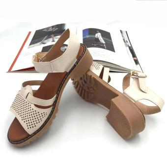 Harga Fantasy Ladies Cuts-out Flat Sandals 702 (beige)