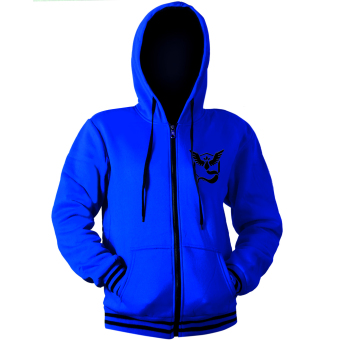 POKEMON GO Master Team Mystic Pokemon Anime Unisex Zip-Up Outdoor Cosplay Hoodie Jacket (Blue/ Black) Price Philippines