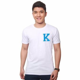 T-shirt ni Juan Pocket Letter K (White Blue) Price Philippines