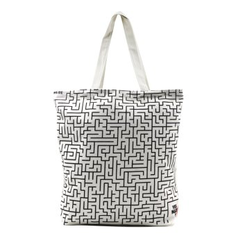 Harga London Fashion Amazing Maze Tote Bag (White)