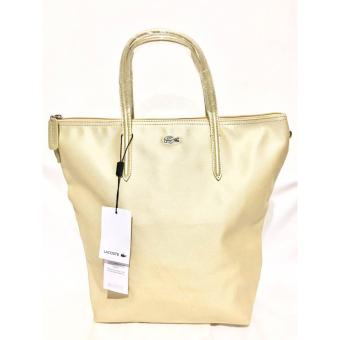 LACOSTE WOMEN'S L.12.12 CONCEPT VERTICAL TOTE BAG GOLD Price Philippines