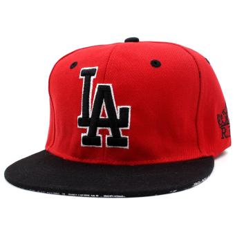 Harga Cap City Hip-hop Snapback LA Los Angeles Baseball Cap (Red)