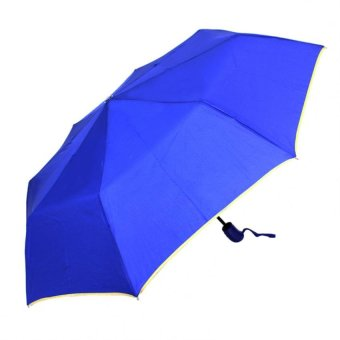 Harga London Fashion SPhil Plain Windproof Automatic Compact Umbrella (Blue)
