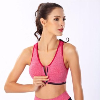 Treeco Fitness Front Zipper Sports Bra (Pink) Price Philippines