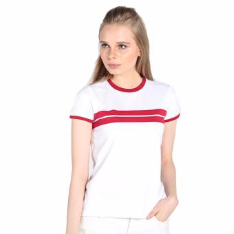 Harga OXYGEN Tee with Contrast Trim (White)