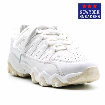 Harga New York Sneakers Balding Rubber Shoes(WHITE)
