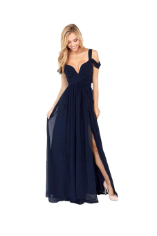 Cyber Maxi Long Dress (Navy Blue) Price Philippines
