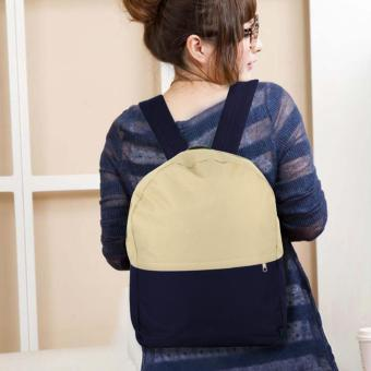Treeco Canvas Sul Ross Collection Backpack (Beige/Navy Blue) Price Philippines