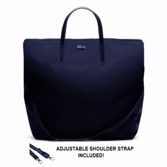Lacoste L.12.12 Concept Nylon Zippered Vertical Tote (Navy) Price Philippines