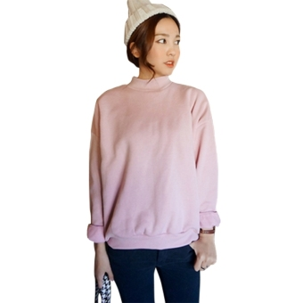 Harga Women Hoodies Sports Sweatshirt Pullover Pink - intl