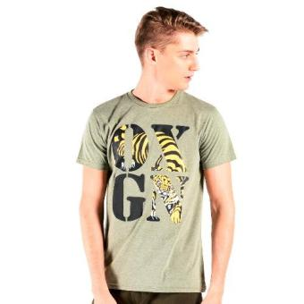 OXYGEN Crew Neck Graphic Tee with Special Print (Moss Green) Price Philippines