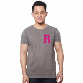 T-shirt ni Juan Pocket Letter R (Grey/Pink) Price Philippines