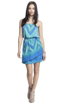 Express Scarf Print Tube Dress (Teal) Price Philippines