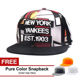 Harga Cap City Unisex Hip-hop NY Est 1903 - Multicolored (Red) With Free Pure Color Snapback