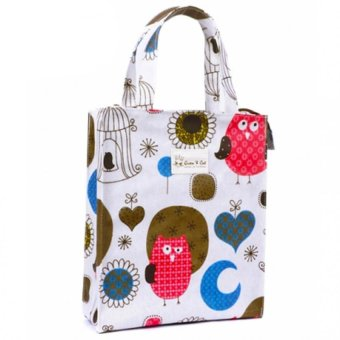 Harga Queen & Cat Colorful Owl Design Lunch Bag with Zipper