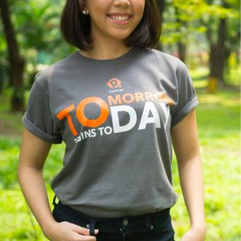 Harga Rappler Xchange Tomorrow Begins Today Cotton T-Shirt (Gray)