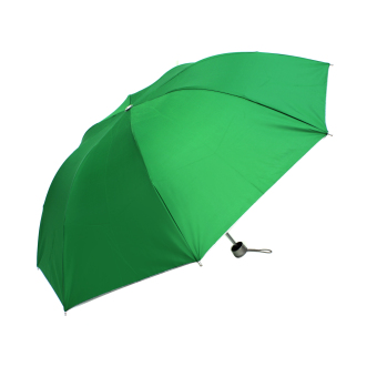 Harga London Fashion Plain Color Three Fold Compact Umbrella (Light Green)
