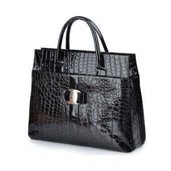 Restore Ancient Ways Bag Crocodile Grain Single Shoulder Bag (Black) Price Philippines