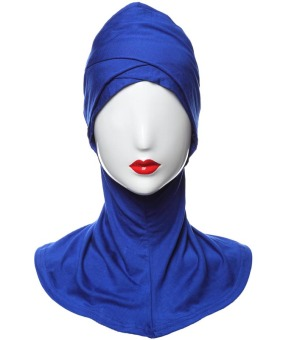 Agapeon Muslim Inner Hijab Cap Inner Neck Double Cross Head Blue Price Philippines