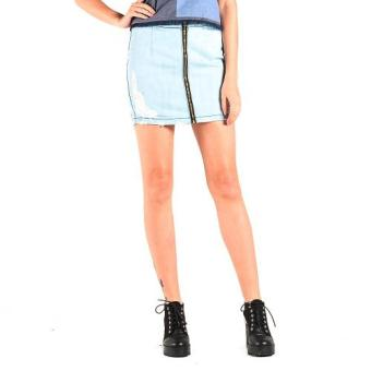 Harga OXYGEN Distressed Fit Skirt (Blue)
