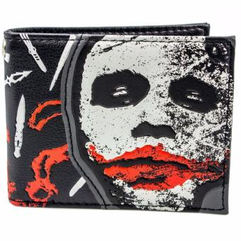 Harga Bioworld Dark Knight Joker Why So Serious Bi-Fold Wallet