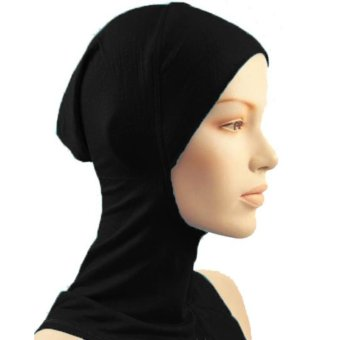 Under Scarf Hat Muslim woman Hijab Islamic Head Wear Neck Cover Black - intl Price Philippines