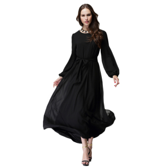 Muslim Women Casual Loose Abaya Islamic Long Chiffon Dress Price Philippines