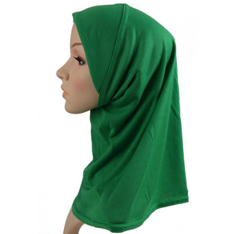2017 Fashion Muslim Scarf Hijab Shawl New Fashion Stretchy White Muslim Hats Hijab Underscarf Caps Turban Women's Bonnet (Intl) Price Philippines