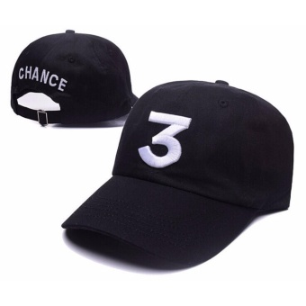 Harga Chance The Rapper 3 Dad Hat Baseball Cap Adjustable Letter Embroidery Hip Hop Black - intl
