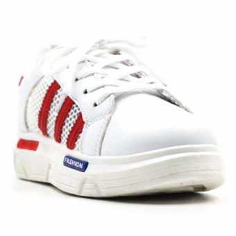 Harga New York Sneakers Eileen Rubber Shoes(WHITE/RED)