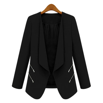 Harga Astar Long Sleeve Women Slim Casual Coat Suit Blazer ( Black )